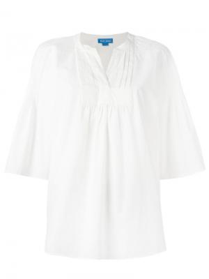 Блузка с широкими рукавами May Mih Jeans. Цвет: белый