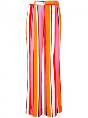 Полосатые расклешенные брюки P.A.R.O.S.H.. Цвет: жёлтый и оранжевый
