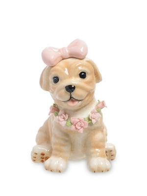 Статуэтка Собака (Pavone) Pavone. Цвет: бежевый, розовый