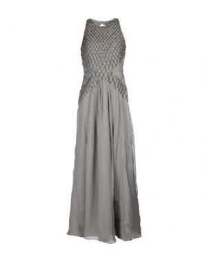 Длинное платье BDBA. Цвет: серый