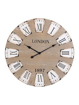 Часы настенные Mitya Veselkov. Цвет: белый, серый