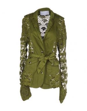 Пиджак MICHAELA BUERGER. Цвет: зеленый-милитари