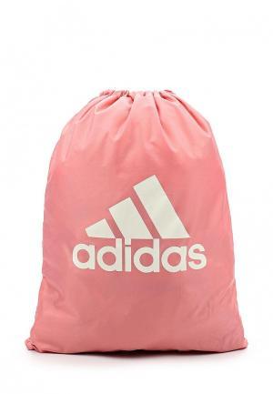Мешок adidas Performance. Цвет: розовый