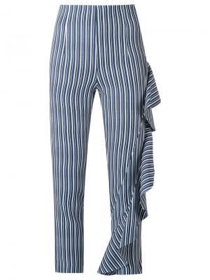Cropped trousers Giuliana Romanno. Цвет: синий