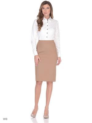 Блузка-боди манжет под запонки WHITE CUFF. Цвет: кремовый