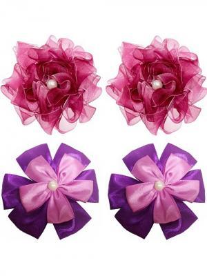 Набор аксессуаров для волос City Flash. Цвет: фиолетовый, бордовый, сиреневый