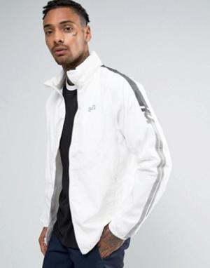 HUF Спортивная куртка в стиле ретро. Цвет: белый