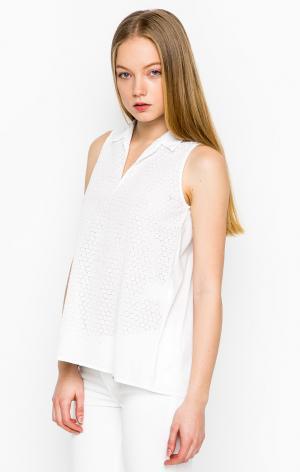Блуза Cinque. Цвет: белый, горошек