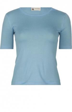 Вязаный пуловер Colombo. Цвет: голубой