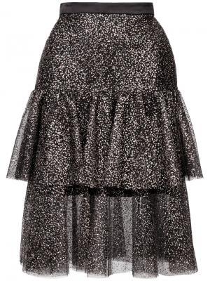 Многослойная юбка с рюшами Rodarte. Цвет: чёрный