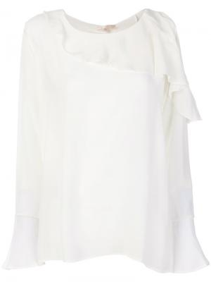 Рубашка с оборками Gold Hawk. Цвет: телесный
