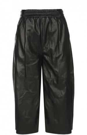 Кожаные шорты Belstaff. Цвет: черный