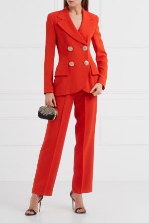 Красный костюм с брюками Gai Mattiolo Vintage. Цвет: красный