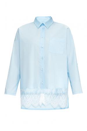 Рубашка из хлопка 169886 Private Sun. Цвет: синий