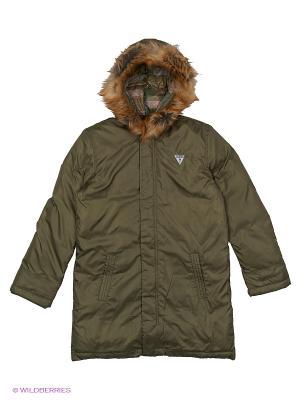 Куртка GUESS. Цвет: зеленый