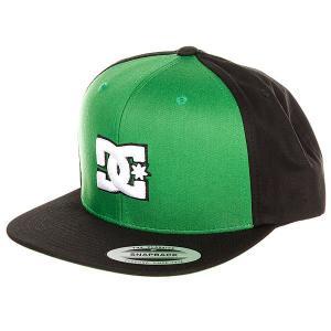 Бейсболка с прямым козырьком детская DC Snappy Boy Fluo Green Shoes. Цвет: черный,зеленый