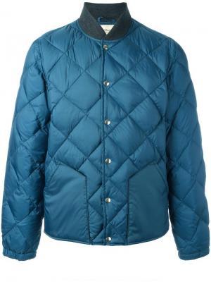 Дутая куртка бомбер Bellerose. Цвет: синий