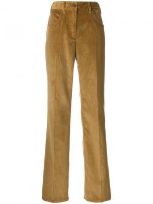 Широкие вельветовые брюки Prada. Цвет: коричневый