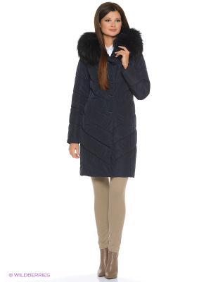 Стеганое пальто Electrastyle. Цвет: темно-синий