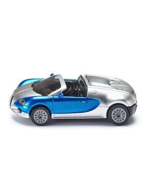 Машина Bugatti Veyron Grand Sport кабриолет SIKU. Цвет: голубой, серебристый