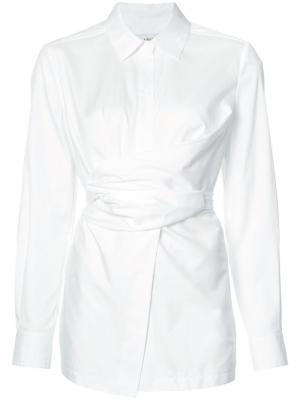 Рубашка с поясом Yigal Azrouel. Цвет: белый