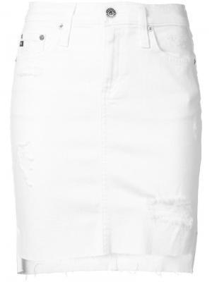 Юбка Erin Ag Jeans. Цвет: белый