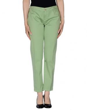 Повседневные брюки OSSO GOCCIA. Цвет: светло-зеленый