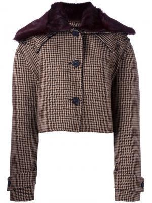 Укороченная куртка Yang Li. Цвет: коричневый