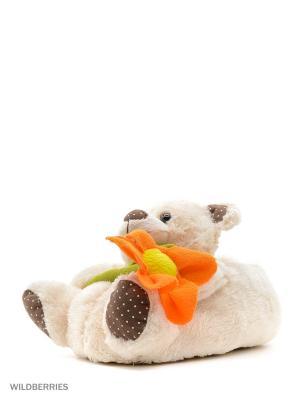 Обувь домашняя Effa. Цвет: молочный, оранжевый