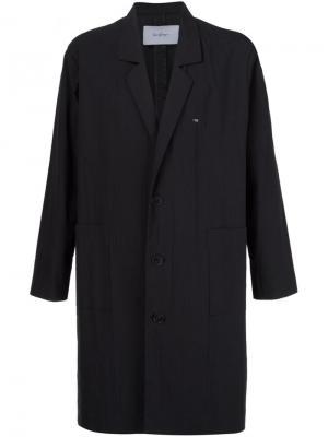 Пальто с принтом логотипа сзади Second/Layer. Цвет: чёрный
