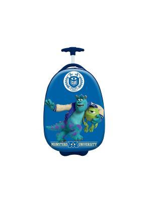 Детский чемодан на колесиках, серия Disney, мультфильм Корпорация монстров Heys USA. Цвет: синий