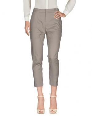 Повседневные брюки HOPE COLLECTION. Цвет: голубиный серый