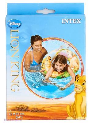 Надувной круг Король Лев  6-10лет Intex. Цвет: коричневый, голубой