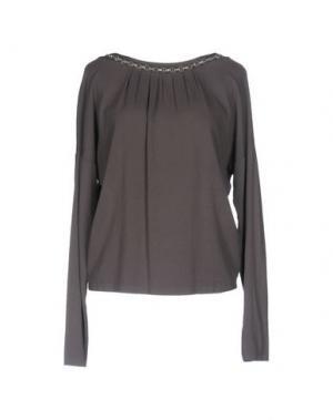 Блузка EMMA&GAIA. Цвет: свинцово-серый