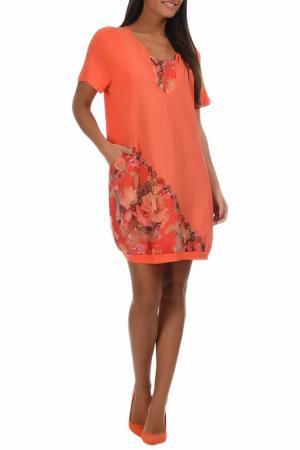 Платье Pomme rouge. Цвет: оранжевый