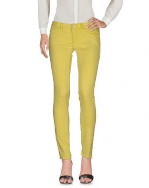 Повседневные брюки HAIKURE. Цвет: кислотно-зеленый