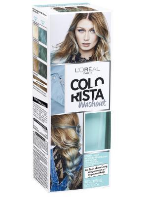 Смываемый красящий бальзам для волос Colorista Washout, оттенок Голубые Волосы, 80 мл L'Oreal Paris. Цвет: голубой