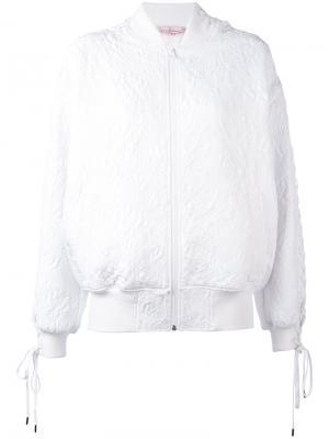 Куртка-бомбер  с вышивкой A.F.Vandevorst. Цвет: белый