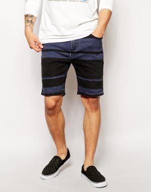 Zee Gee Why Зауженные джинсовые шорты в полоску Hang It