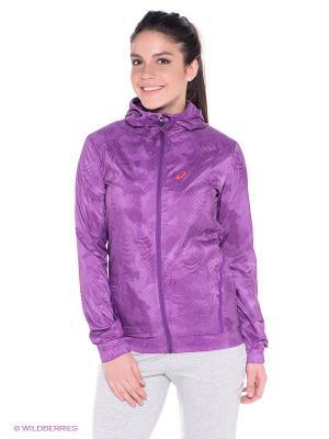 Куртка Woven Jacket ASICS. Цвет: фиолетовый