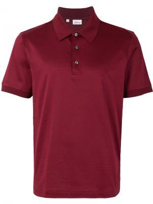 Рубашка-поло с короткими рукавами Brioni. Цвет: красный