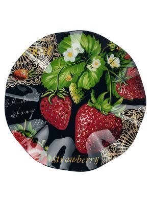 Блюдо волнистый край 30 см Elff Ceramics. Цвет: черный, зеленый, красный, желтый, белый