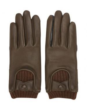 Перчатки BLITZ MOTORCYCLES x AGNELLE. Цвет: темно-коричневый