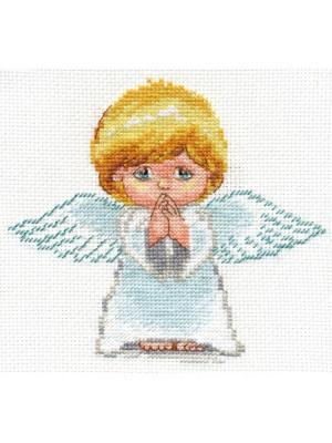 Мой ангел  14х13 см Алиса. Цвет: белый, голубой, желтый