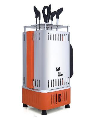 Электрошашлычница КТ-1403 Kitfort. Цвет: серебристый, оранжевый