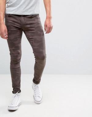 Brooklyn Supply Co. Коричневые камуфляжные джинсы скинни Co. Цвет: коричневый