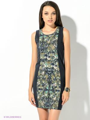Платье GARCIA. Цвет: серый, зеленый, бирюзовый