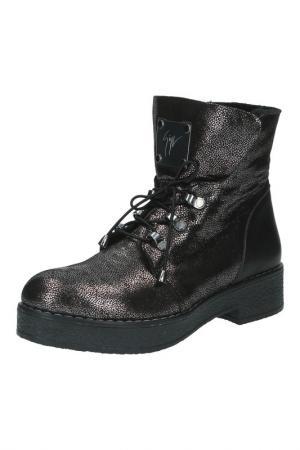 Ботинки Sandm. Цвет: серебряный