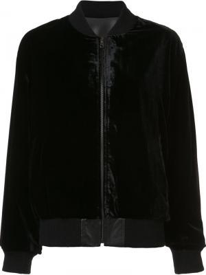 Двухсторонняя куртка-бомбер Peter Cohen. Цвет: чёрный