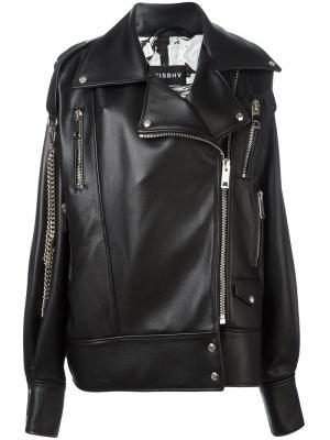 Байкерская куртка Martina Misbhv. Цвет: чёрный